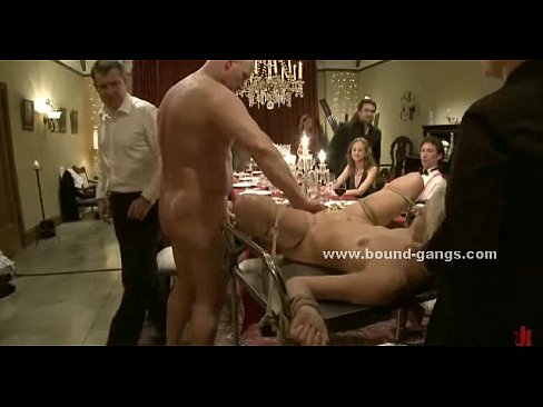 Tied Blondie Kinky Extreme Gangbang Sex