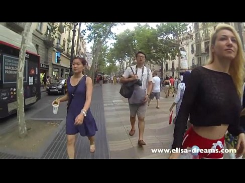 Flashing My Huge Tits In Public In Las Ramblas De Barcelona