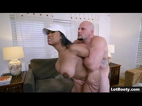 Big Ass Ebony Huge Tits Babe Interracial Doggystyle Fucked