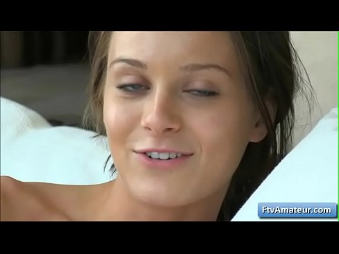 Cute Brunette Lana With Sexy Blue Eyes Show Her Perky Nipples